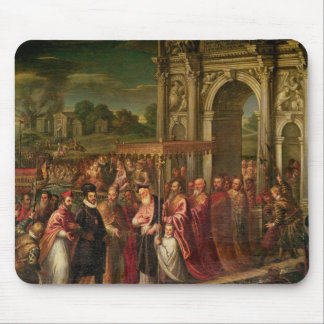 King Henri III  of France visiting Venice Mouse Pad