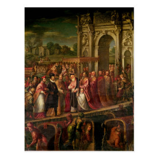 King Henri III  of France visiting Venice Postcard