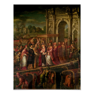King Henri III  of France visiting Venice Poster