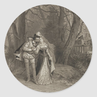 King Henry and Lovely Fosseuse 1885 Classic Round Sticker