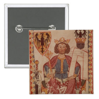 King Henry, illustration from the Manasse 2 Inch Square Button