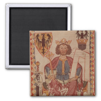 King Henry, illustration from the Manasse 2 Inch Square Magnet