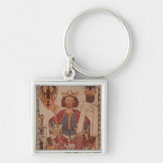 King Henry, illustration from the Manasse Silver-Colored Square Keychain