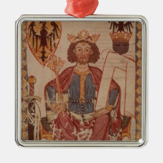 King Henry, illustration from the Manasse Square Metal Christmas Ornament