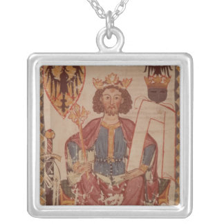 King Henry, illustration from the Manasse Square Pendant Necklace