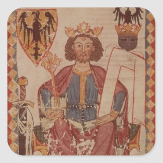 King Henry, illustration from the Manasse Square Sticker
