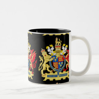 KING HENRY THE EIGHTH COAT OF ARMS Two-Tone COFFEE MUG