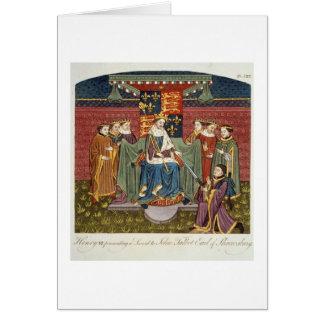 King Henry VI (1421-71) presenting a sword to John Card