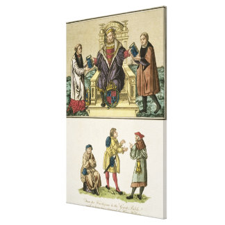 King Henry VIII (1491-1547) from the frontispiece Canvas Print