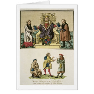 King Henry VIII (1491-1547) from the frontispiece Card