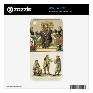 King Henry VIII (1491-1547) from the frontispiece iPhone 4 Decal