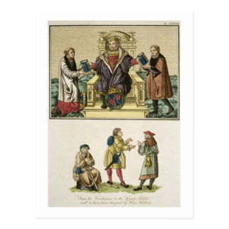 King Henry VIII (1491-1547) from the frontispiece Postcard