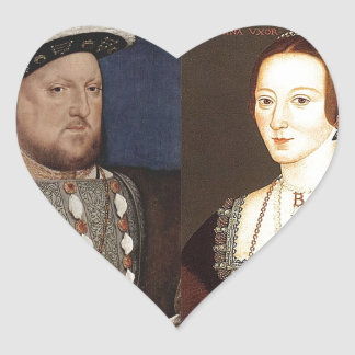 King Henry VIII and Anne Boleyn Heart Sticker