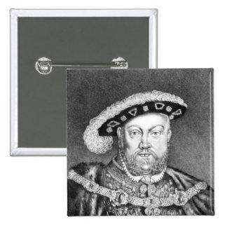 King Henry VIII  illustration Button