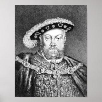 King Henry VIII  illustration Poster