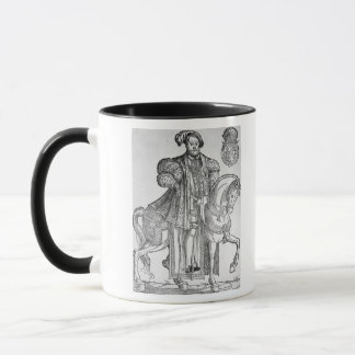 King Henry VIII on horseback Mug