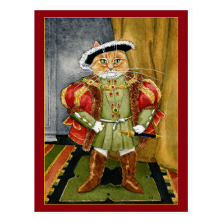 King Henry VIII royal cat post card
