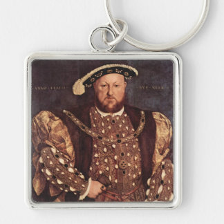 King Henry VIII Square Keychain