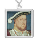 King Henry VIII Square Pendant Necklace