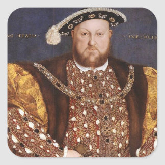 King Henry VIII Square Stickers