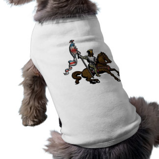 King holding red white and blue banner on Horse T-Shirt