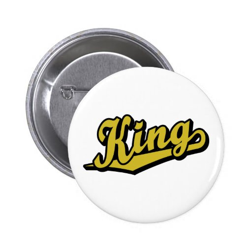 King in Gold Button
