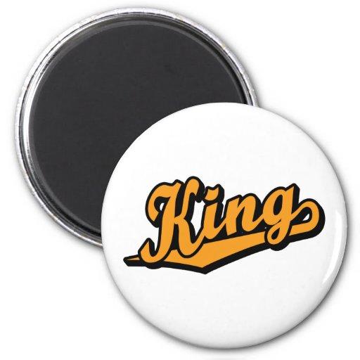King in Orange Refrigerator Magnet