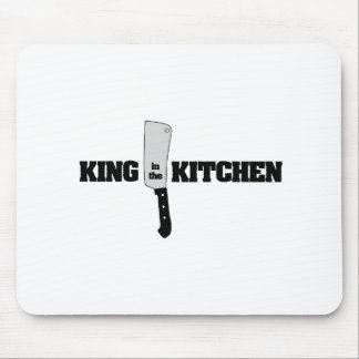 King in the Kitchen Butcher Knife Mouse Pad