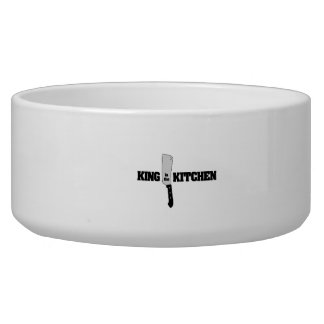 King in the Kitchen Butcher Knife Pet Food Bowls