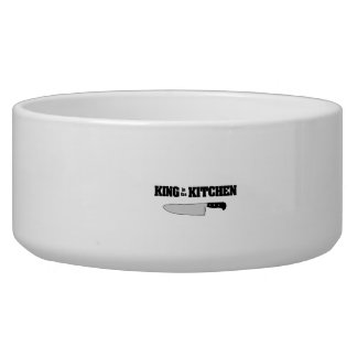 King in the Kitchen Horizontal Chef's Knife Dog Food Bowls