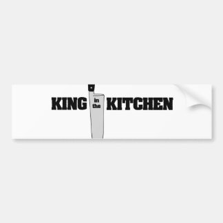 King in the Kitchen Vertical Chef's Knife Bumper Stickers