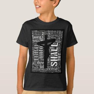King James Bible in Tagxedo (Black, Portrait) T-Shirt
