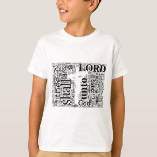 King James Bible in Tagxedo (White, Landscape) T-Shirt