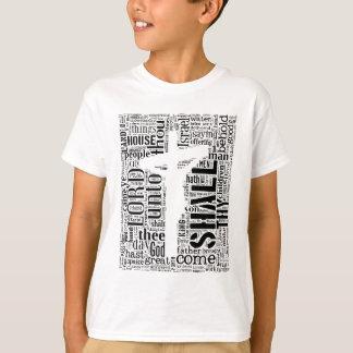King James Bible in Tagxedo (White, Portrait) T-Shirt