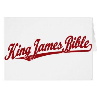 King James Bible Script Logo in red Card