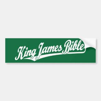King James Bible Script Logo in white Bumper Sticker