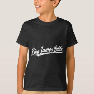 King James Bible Script Logo in white T-Shirt