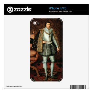 King James I of England (1566-1625) (oil on canvas iPhone 4S Skins