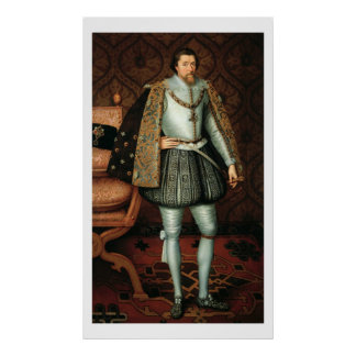 King James I of England (1566-1625) (oil on canvas Poster
