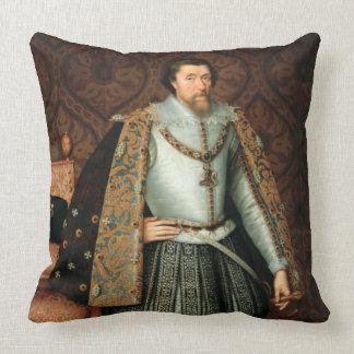 King James I of England (1566-1625) (oil on canvas Throw Pillow