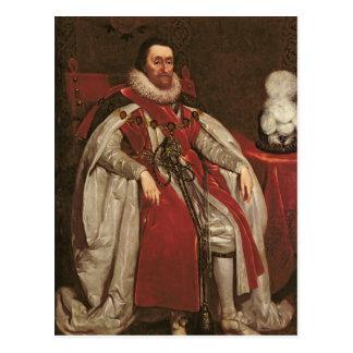 King James I of England and VI of Scotland, 1621 Postcard