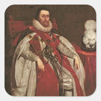 King James I of England and VI of Scotland, 1621 Square Sticker