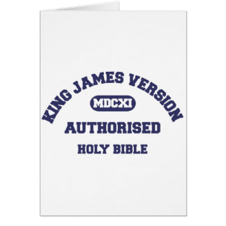 King James Version Authorised Holy Bible in blue Card