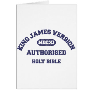 King James Version Authorised in blue distressed Card