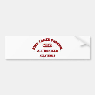King James Version Authorized Holy Bible in red Bumper Sticker