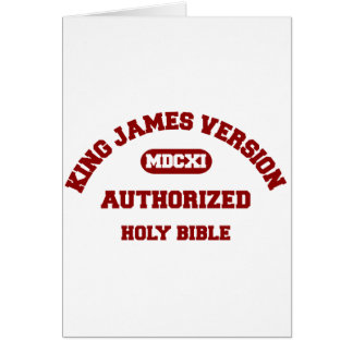 King James Version Authorized Holy Bible in red Card