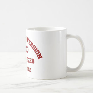 King James Version Authorized Holy Bible in red Coffee Mug
