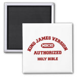 King James Version Authorized Holy Bible in red Magnet