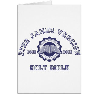 King James Version College Style Crest in blue Card