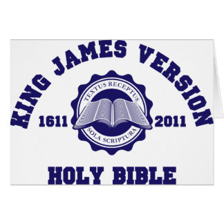 King James Version College Style Crest Solid Red Card